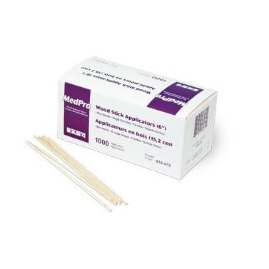 MedPro® Wood Stick Applicators, 6""