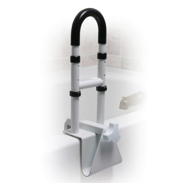 Drive Medical Clamp-On Bathtub Safety Rail, Adjustable Heights