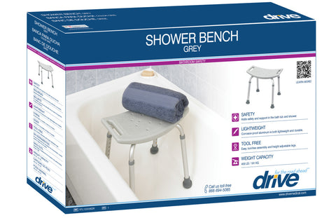 Image of Drive Medical Bathroom Safety Shower Tub Bench Chair