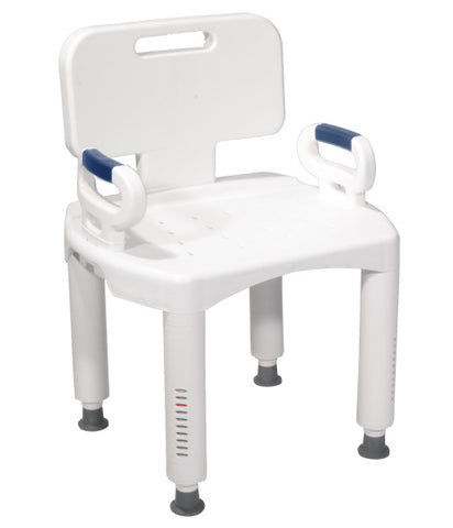 Image of Drive Medical Premium Series Shower Chair with Back and Arms