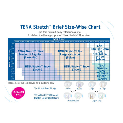TENA® Stretch Incontinence Brief, Super Absorbency - Unisex