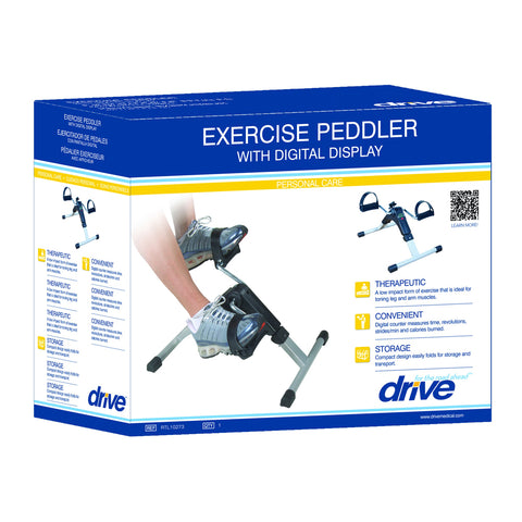Image of Drive Medical Folding Exercise Peddler with Electronic Display