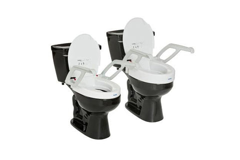 Invacare Toilet Seat Raiser, With Armrests and Lid