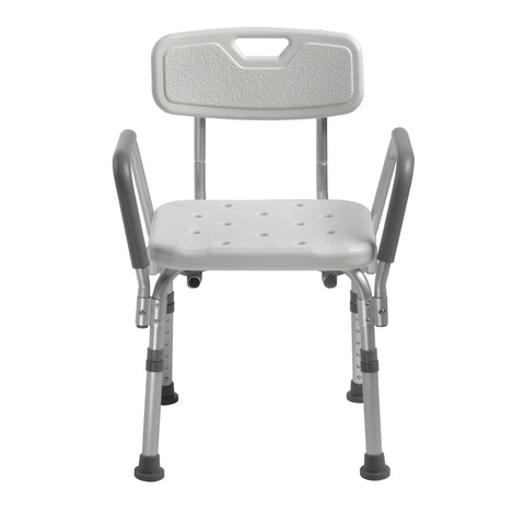 Image of Drive Medical Knock Down Bath Bench with Back and Padded Arms