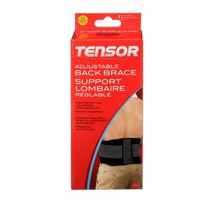 3M Tensor™ Back Brace, Black, Adjustable