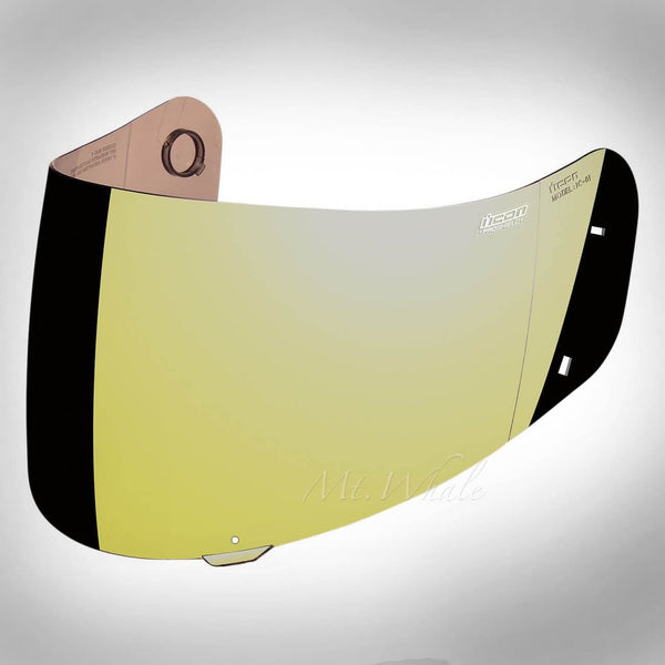 ICON IC-02 PROSHIELD Gold Anti-Fog Shield,Visor for AIRFRAME ALLIANCE DOMAIN 2