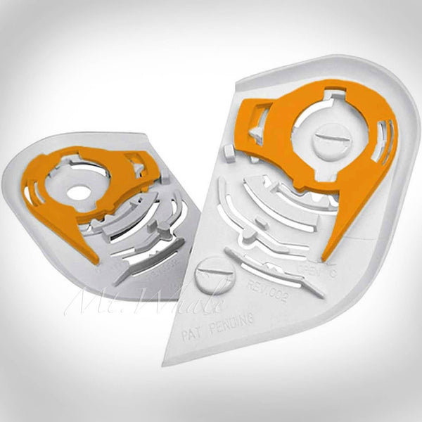 ICON Shield,Visor Gear Plate Pivot Kit for Domain 1, Domain 2 Helmet White