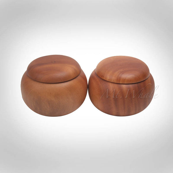 6 Six Brothers Buduk Go Weiqi Bowls Rose Wood Light