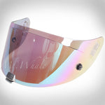 HJC HJ-20P Pinlock Ready Rainbow Shield Visor for R-PHA 10 Plus RPHA-10 Plus (+) Helmet Regenbogen Verspiegelt Visier für Motorrad Helm Miroir/Arc en Ciel Visière pour Casque Moto