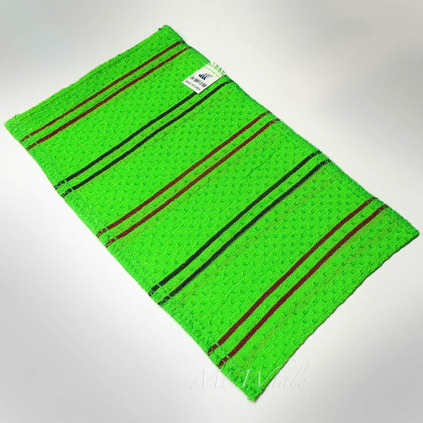 NEW! BIG GREEN ITALY TOWEL KOREAN WASHCLOTH BODY SCRUBBER EXFOLIATING SONGWOL