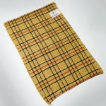 NEW! BEIGE CHECK ITALY TOWEL KOREAN WASHCLOTH BODY SCRUBBER EXFOLIATING SONGWOL