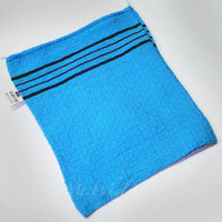 NEW! 20 x SMALL BLUE ITALY TOWEL KOREAN WASHCLOTH BODY SCRUBBER EXFOLIATING