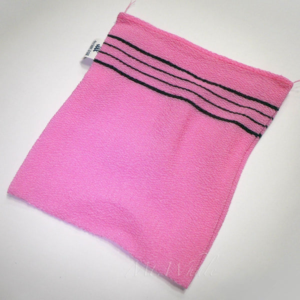 NEW! SMALL PINK ITALY TOWEL KOREAN WASHCLOTH BODY SCRUBBER EXFOLIATING SONGWOL