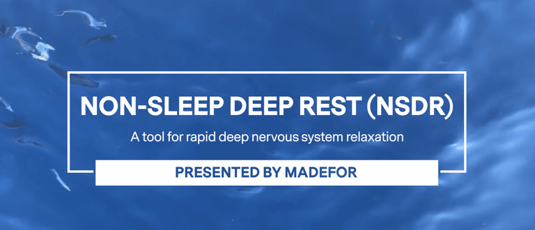 Get deep rest anytime and anywhere with this free tool | Madefor