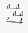 Floating Shelves Wall Mounted Set of 3