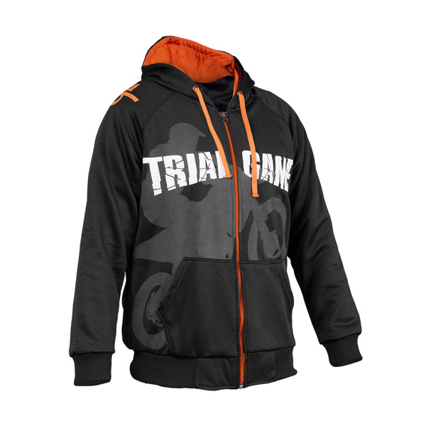 Trial Game Typography Edition Hoodie Zipper - Full Black