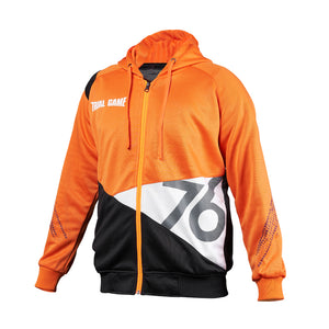 Trial Game Typography Edition Hoodie Zipper - Orange Black