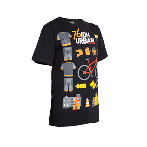 Black T-Shirt 76 IDH Urban