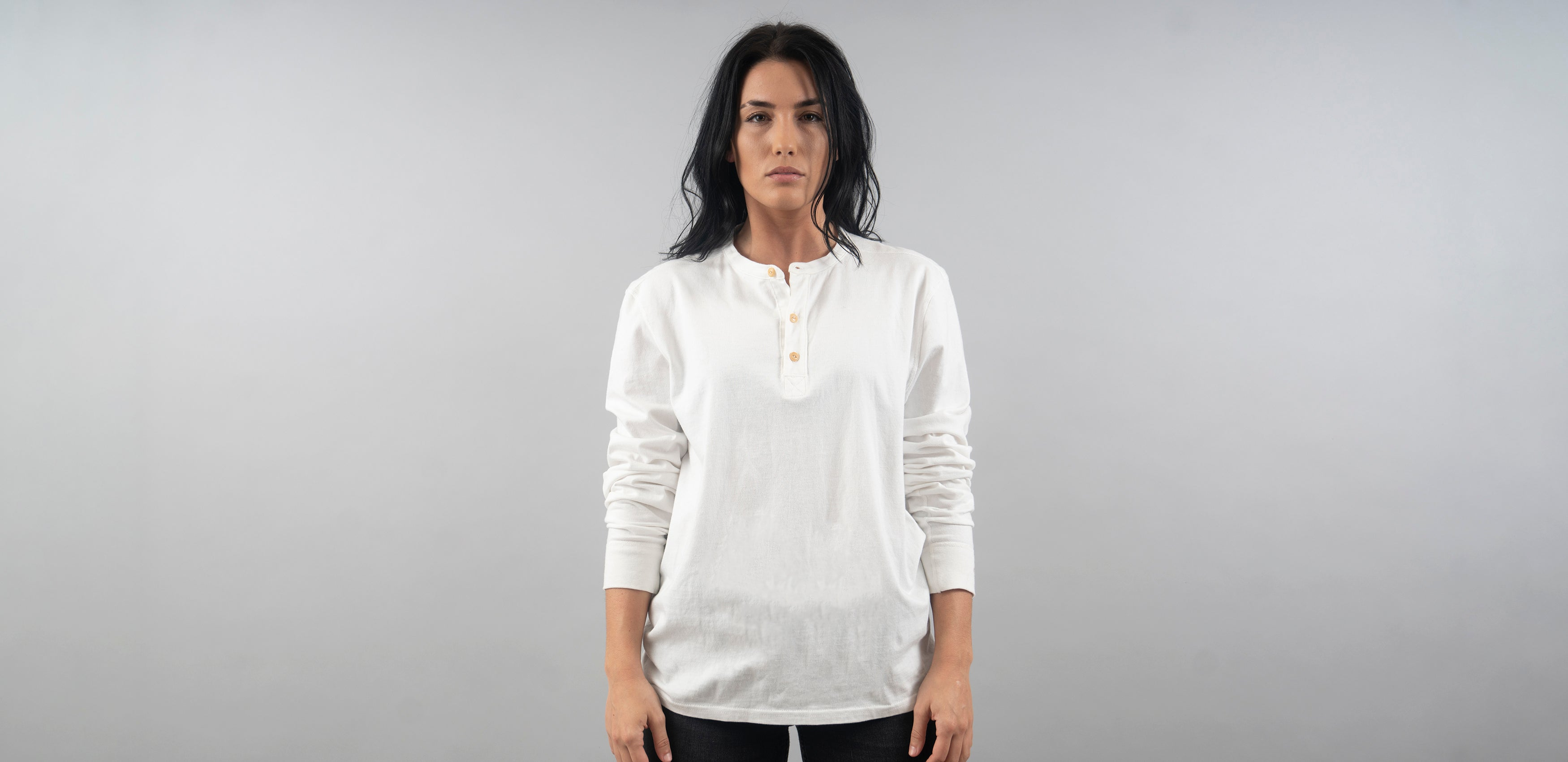 Union Henley (Bone White)