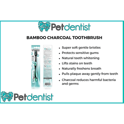 Petdentist® Toothbrushes Bamboo Charcoal Toothbrush