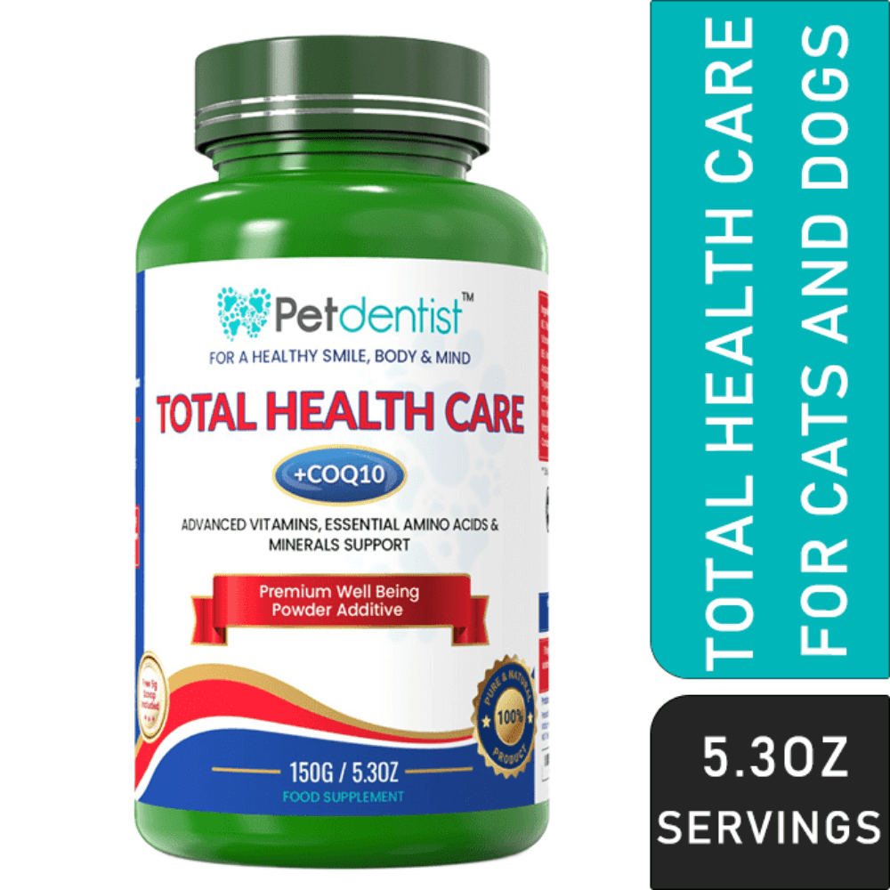 Pet Vitamins and Supplements with CoQ10 Complete Total Health Care Powder – 150g - Pet Dentist