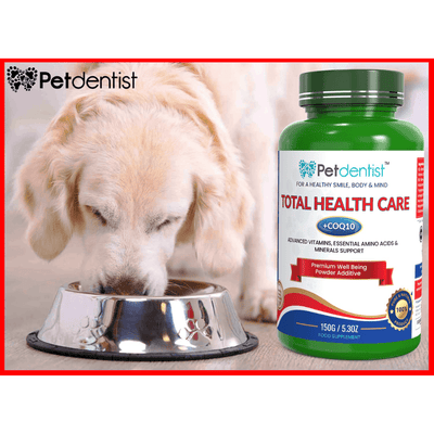 Total Health Care Pet Vitamins with CoQ10 Supplement Powder – 150g - Pet Dentist