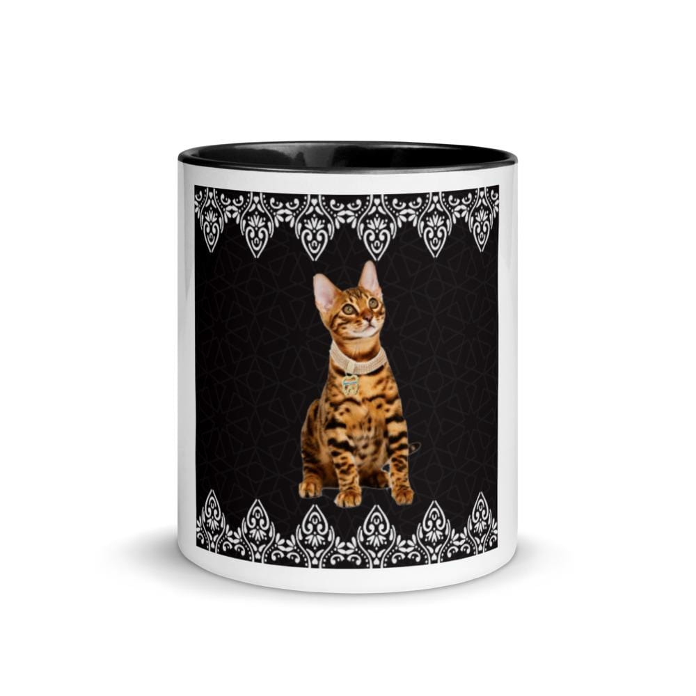 Petdentist Bengal Cat Mug with Black Colour Inside and Handle - Pet Dentist
