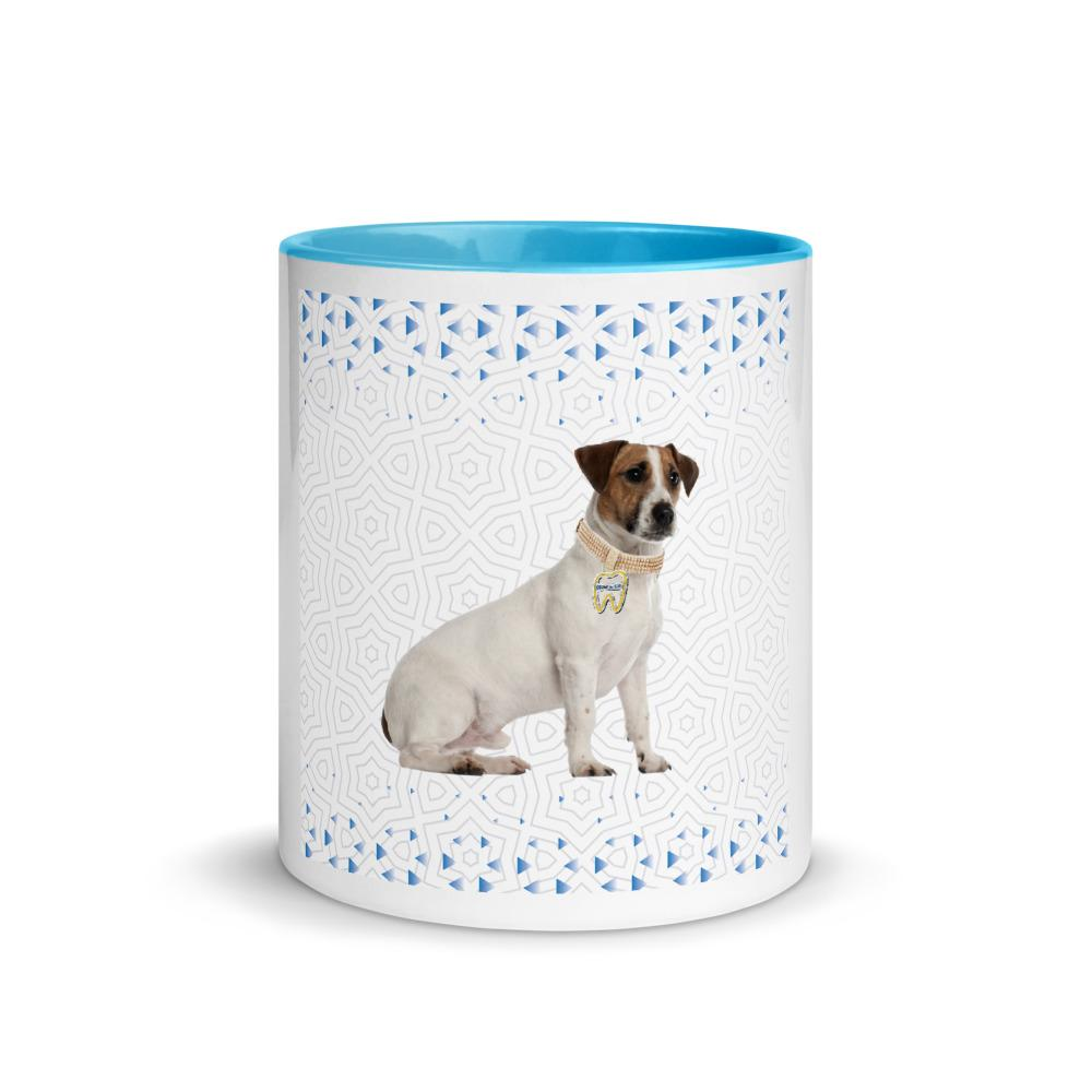 Petdentist Jack Russell Mug with Blue Colour Inside and Handle - Pet Dentist
