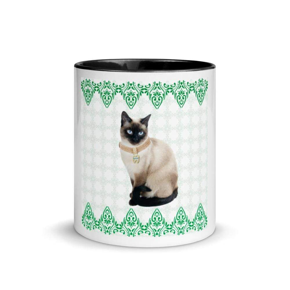 TQuench Petdentist Siamese Cat Mug with Colour Inside and Handle - Petdentist