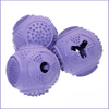 Dog Ball Treat Dispenser Rubber Chew Toy Plaque Cleaner – Purple - Petdentist