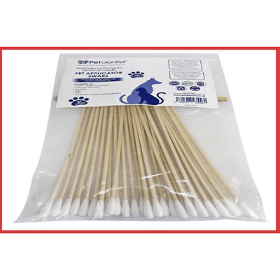 Professional Medical - Grade, Extra Long 6 Inch Wooden Cotton Bud Swabs Multi-Cleaning Uses - Pet Dentist