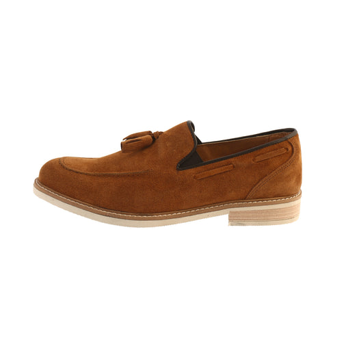 mocassini uomo slip on in camoscio con nappine esprez