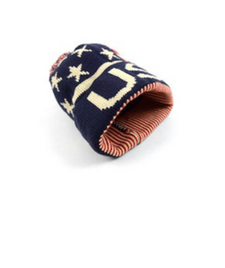 USA flag design winter hat