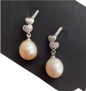 Pearl water earrings