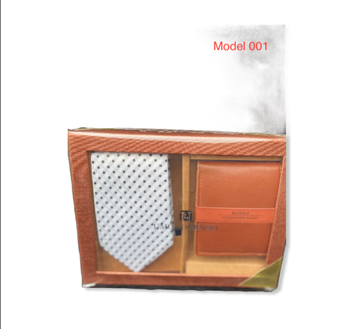 Tie and leather wallet 001