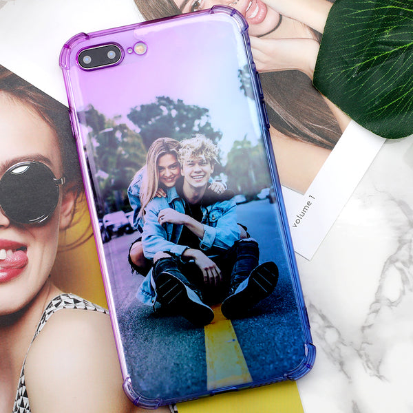 Buy 2 Get 1 Free - Custom Rainbow Gradient Phone Case(Quadrang Leairbag Anti-fall)