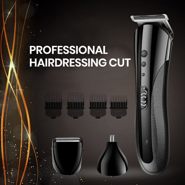 Electric Hair Clipper - 3 In 1 Electric With 4 Limit Combs Shaver Nose Beard Hair Trimmer Beard & Mustache Trimmers