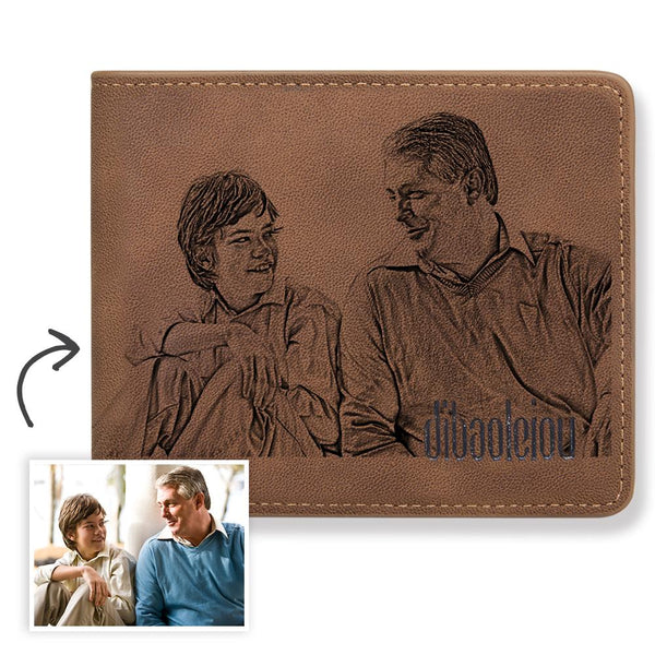 Father's Day Gift- Custom Photo Wallet-Printings Never Fade