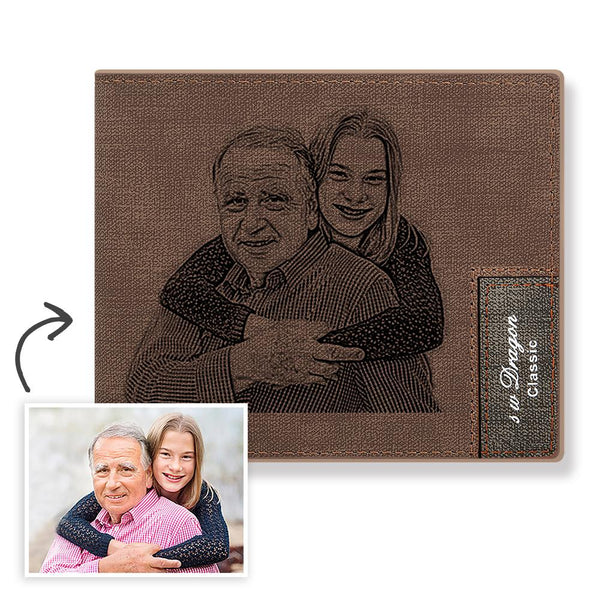 Father's Day Gift - Custom Photo Wallet - Printings Never Fade