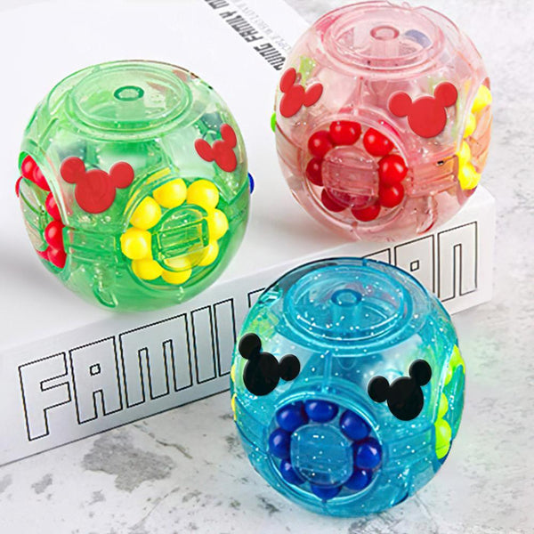 Rubik's Cube Game Transparent Magic Beans Rotating Cube Finger Game Develop Brain
