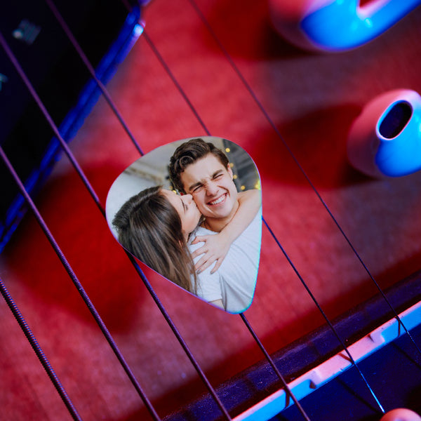 Personalized Guitar Pick With Photo For Musicians Customized For Boyfriend -12Pcs