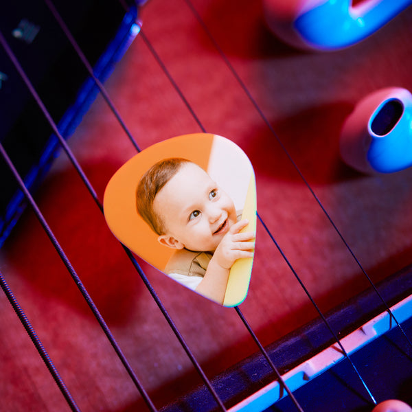 Personalized Guitar Pick With Photo For Baby -12Pcs