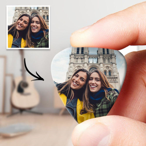 Personalized Guitar Pick With Photo Birthday Present -12Pcs