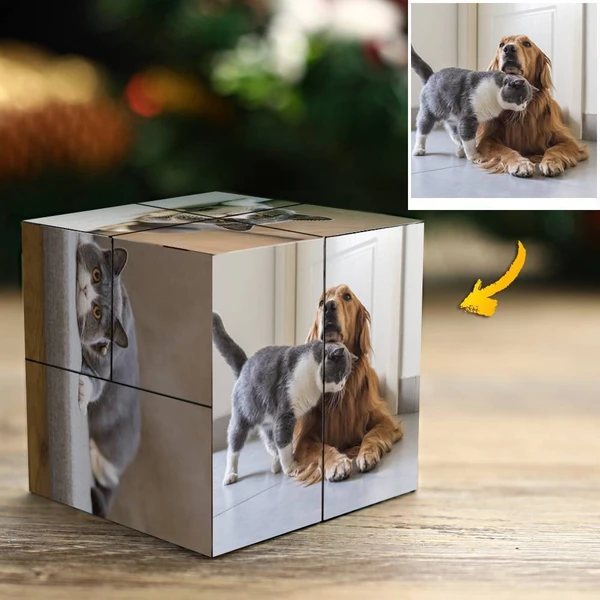 Custom Photo Rubik's Cube For Pet DIY Multiphoto Cube