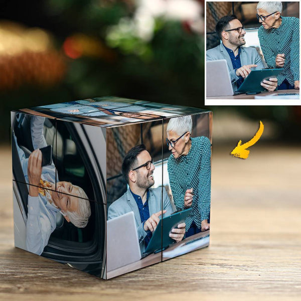 Personalized Photo Rubik's Cube For Best Friend DIY Multiphoto Cube