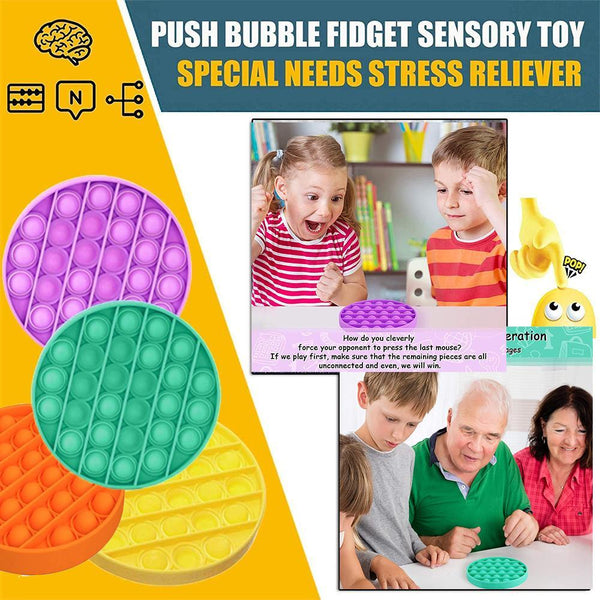 Push Pop Bubble Fidget Sensory Toy, Pop-Pop Fidget Toy Gifts for Boys and Girls, Stress Relief and Anti-Anxiety Tools for Kids and Adult