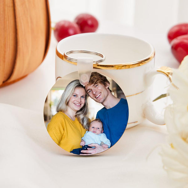 Custom Round Shape Double-sided Photo Keychain