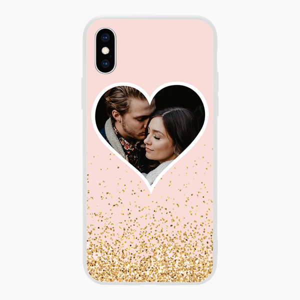 custom arrow and hearts iphone case