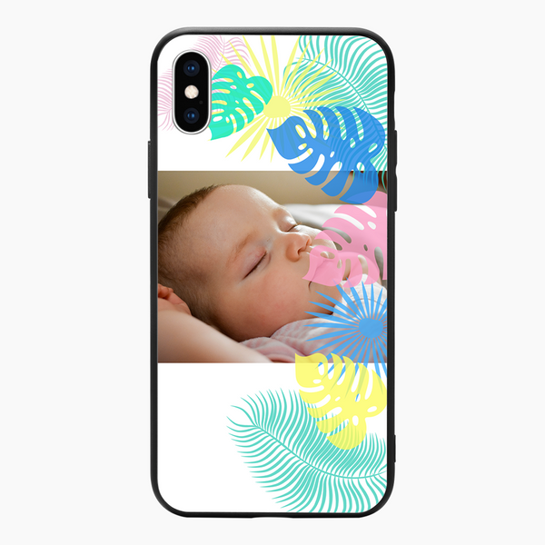 Custom Colorful Leaves iPhone Case