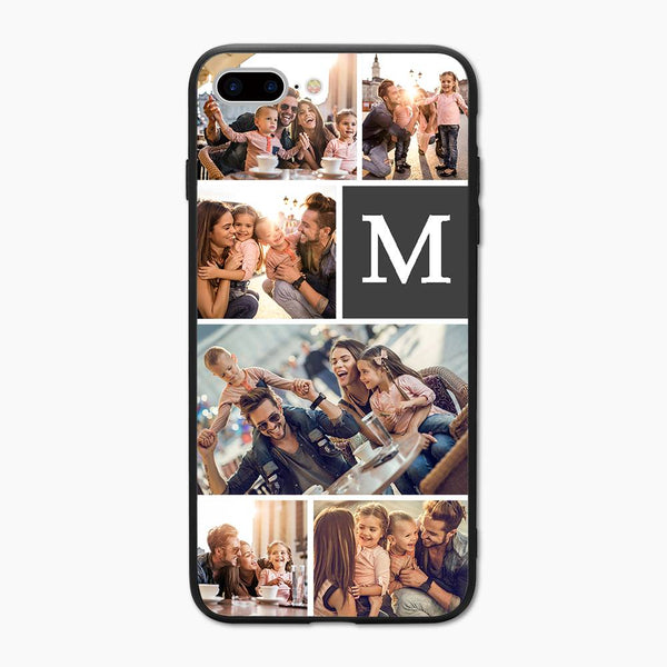 custom photo collage phone case single letter